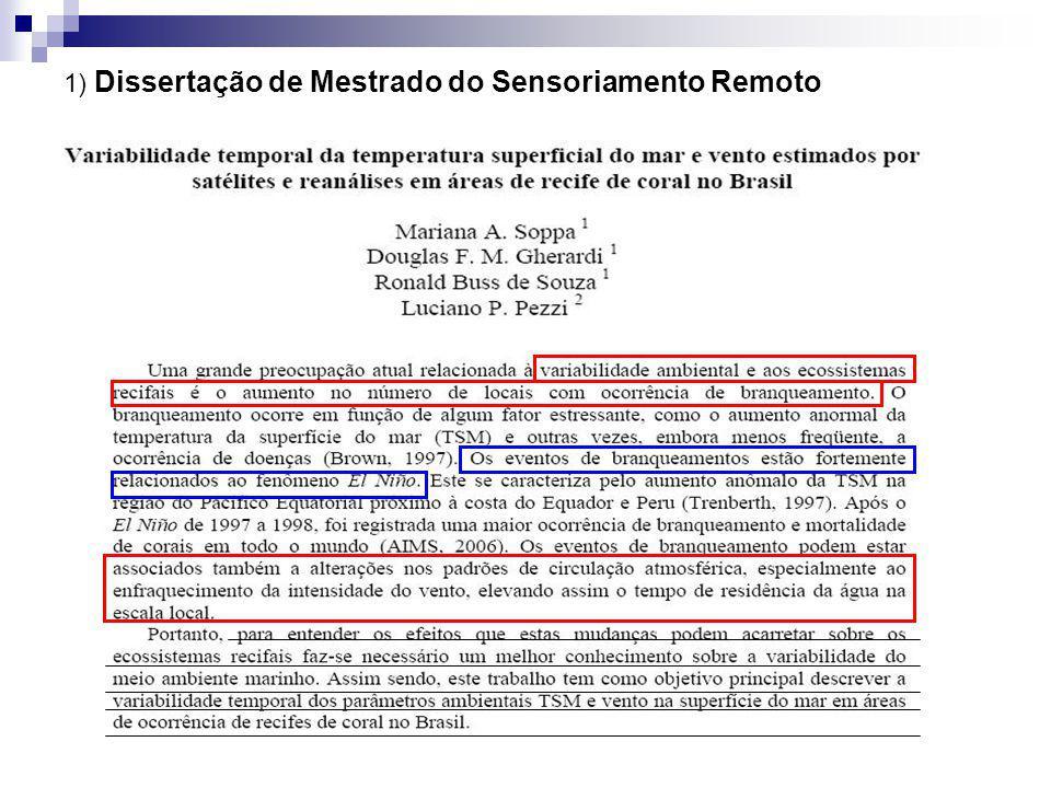 1) Dissertação de Mestrado do Sensoriamento Remoto