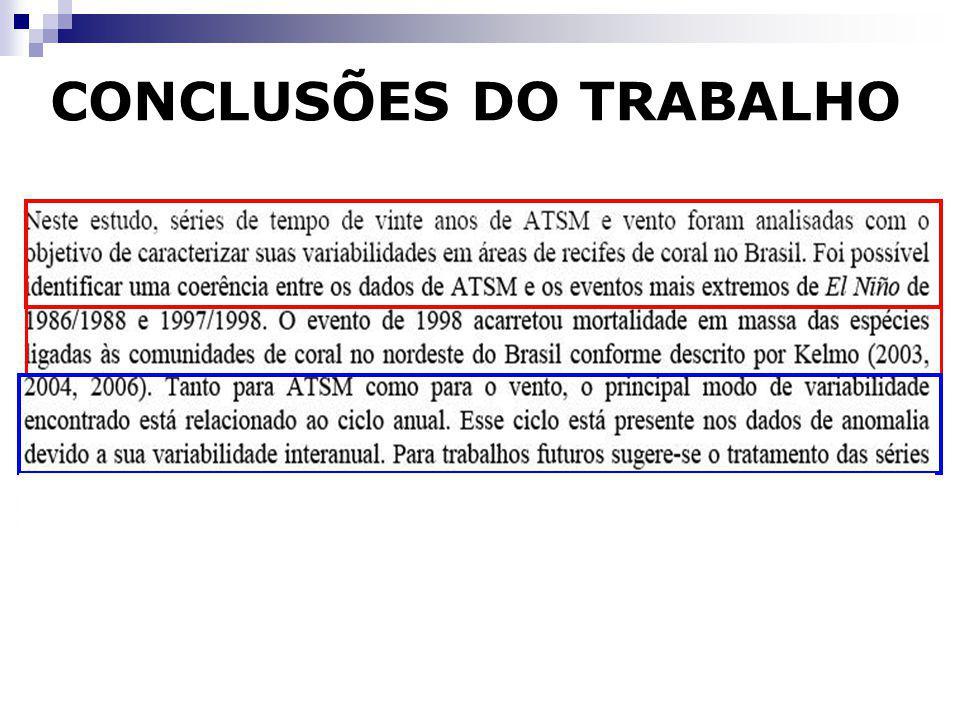 CONCLUSÕES DO TRABALHO
