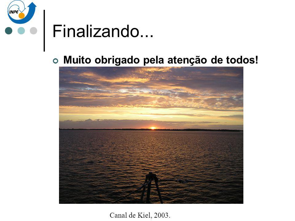 Finalizando... Muito obrigado pela atenção de todos! Canal de Kiel, 2003.
