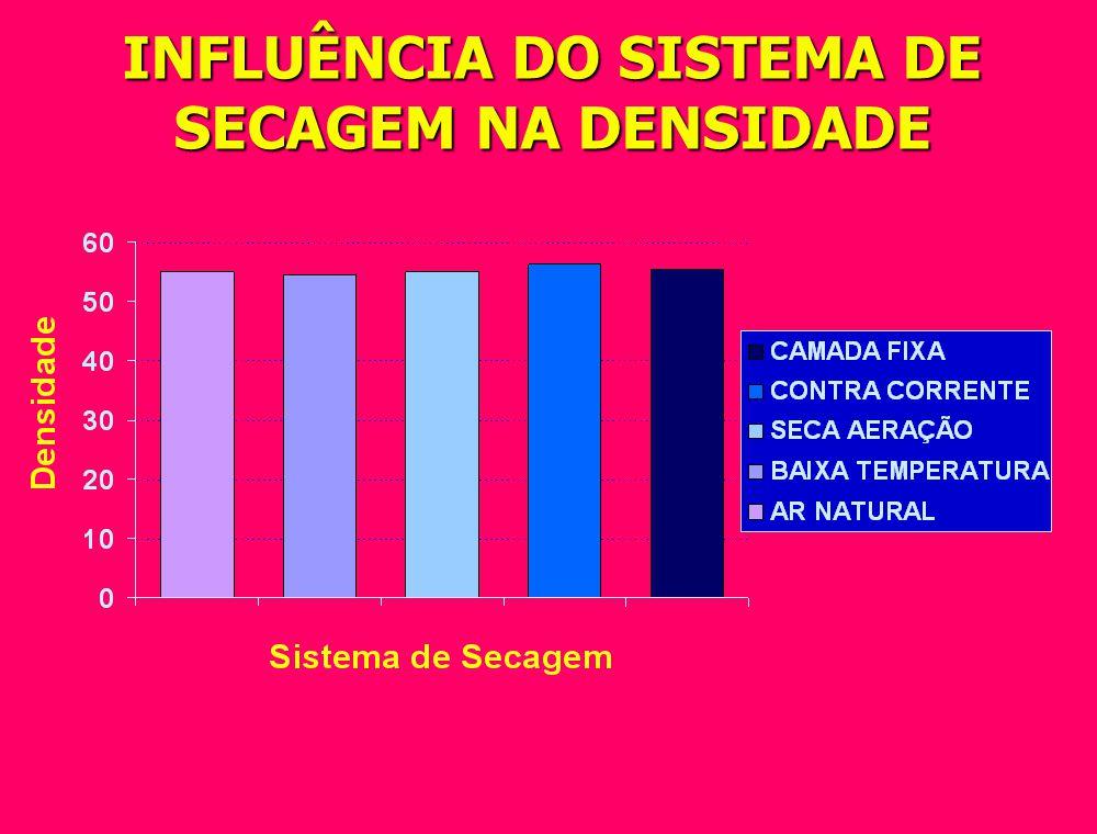 INFLUÊNCIA DO SISTEMA DE SECAGEM NA % DE QUEBRAS