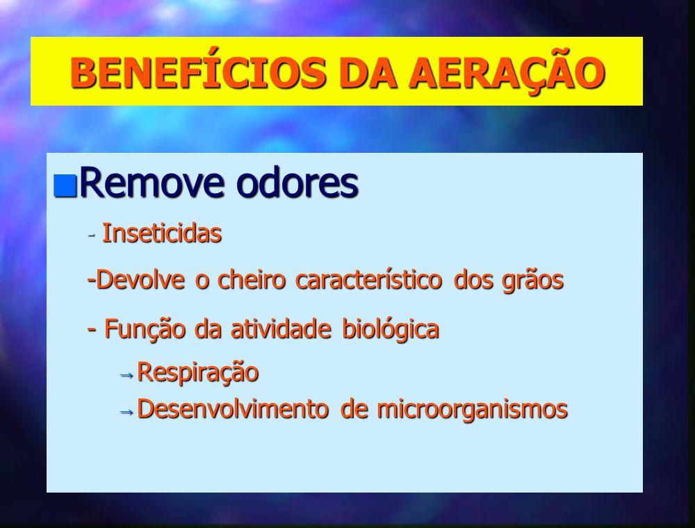 BENEFÍCIOS DA AERAÇÃO n Promove a secagem .