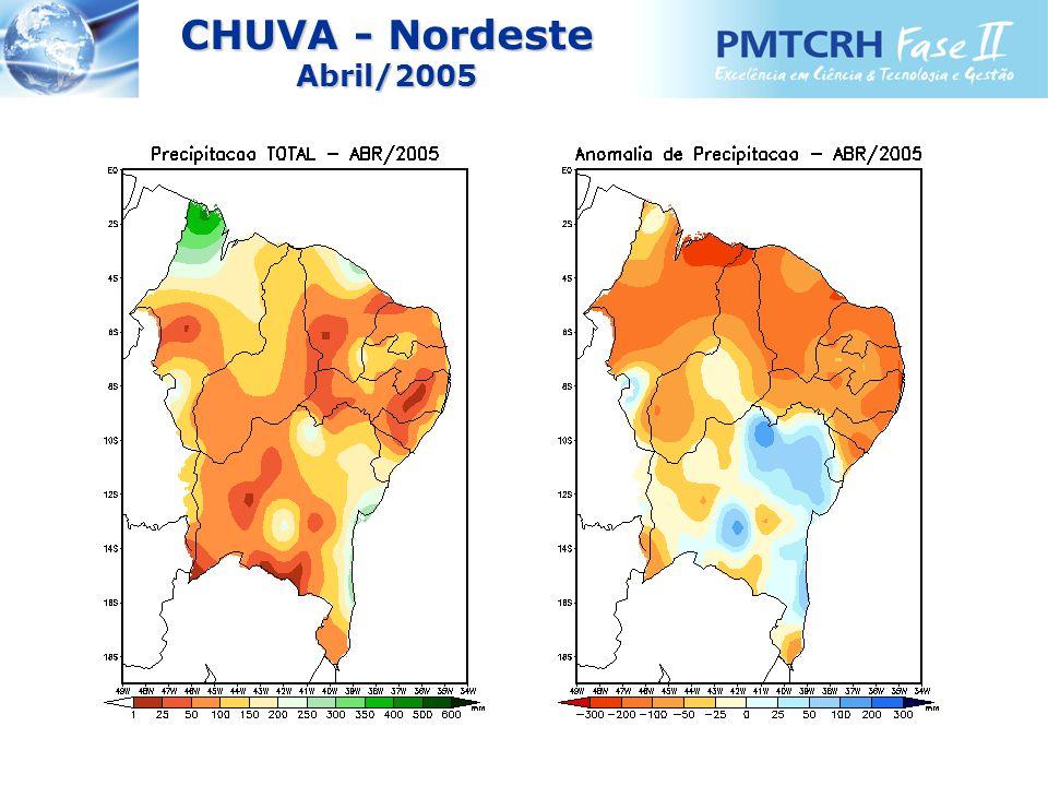 CHUVA - Nordeste Abril/2005