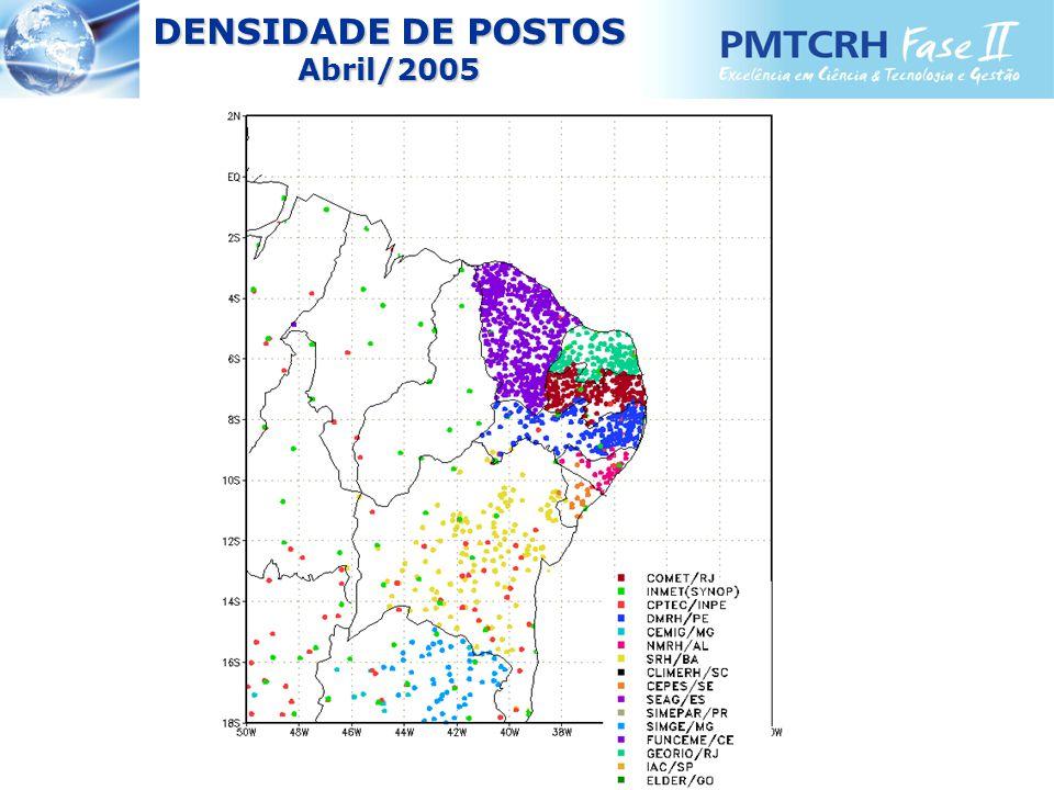 DENSIDADE DE POSTOS Abril/2005