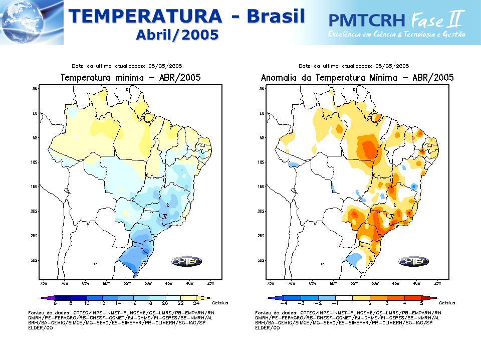 TEMPERATURA - Brasil TEMPERATURA - BrasilAbril/2005