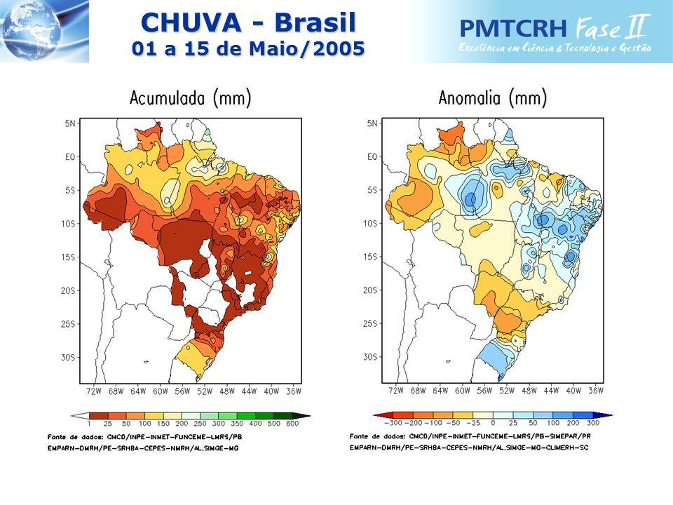 CHUVA - Brasil 01 a 15 de Maio/2005