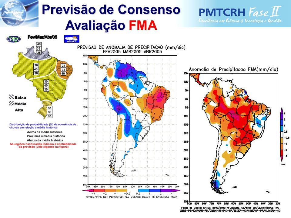 Previsão de Consenso Avaliação FMA