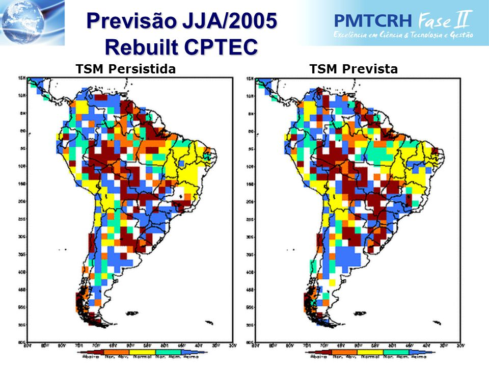 Rebuilt CPTEC TSM PersistidaTSM Prevista