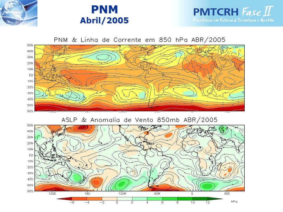 CHUVA Abril - NE Período 1961 a 2005 Posição da ChuvaClassificação da Chuva