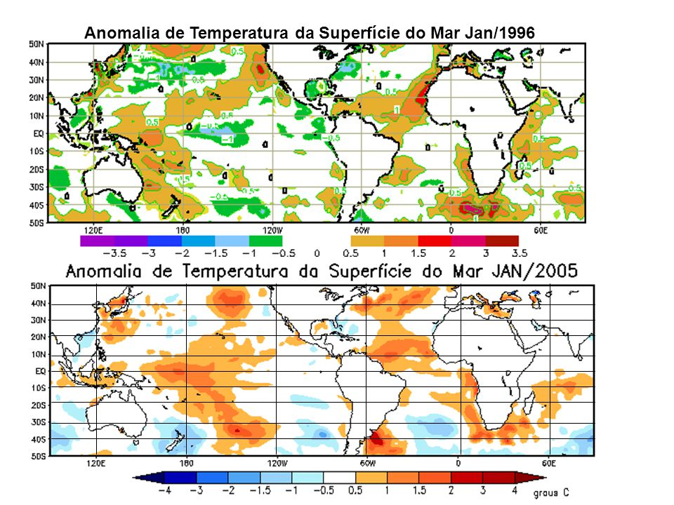 Anomalia de Temperatura da Superfície do Mar Jan/1996