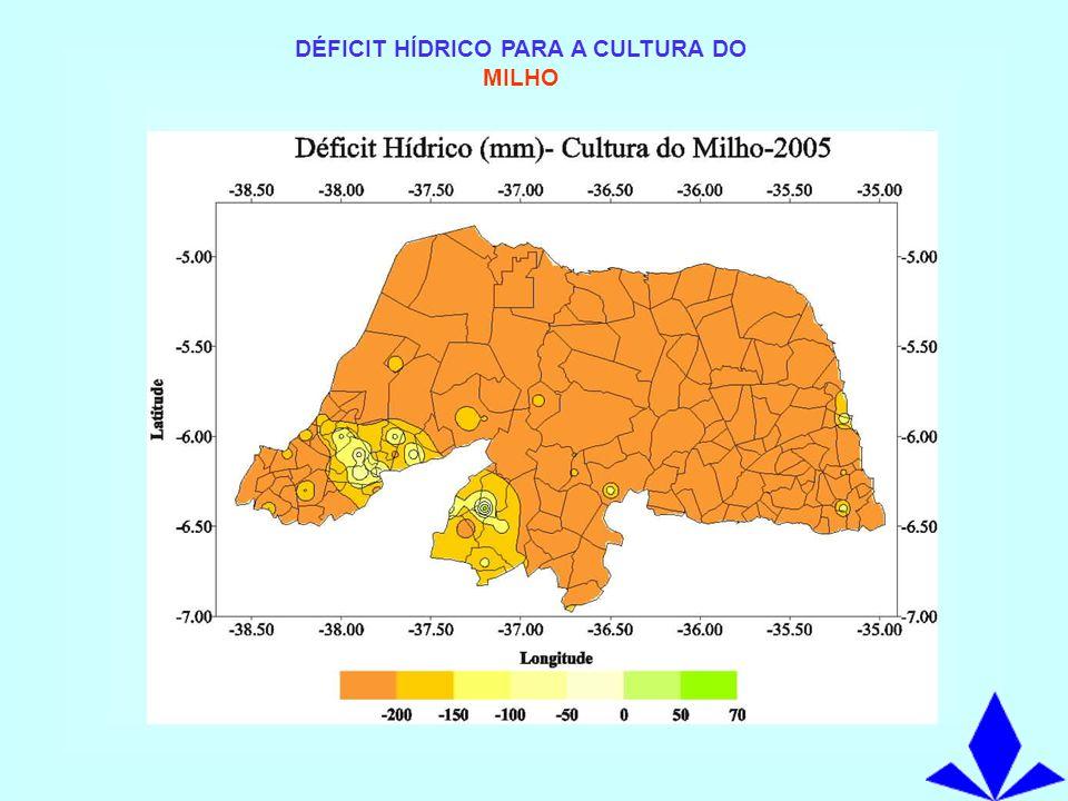 DÉFICIT HÍDRICO PARA A CULTURA DO MILHO