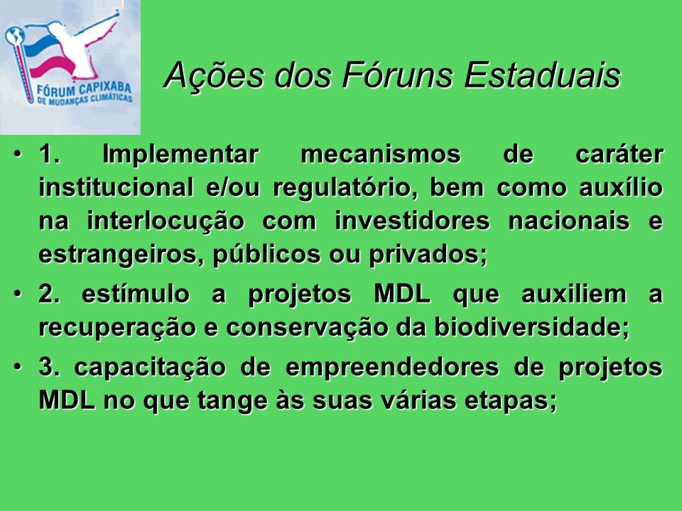 Ações dos Fóruns Estaduais 1.