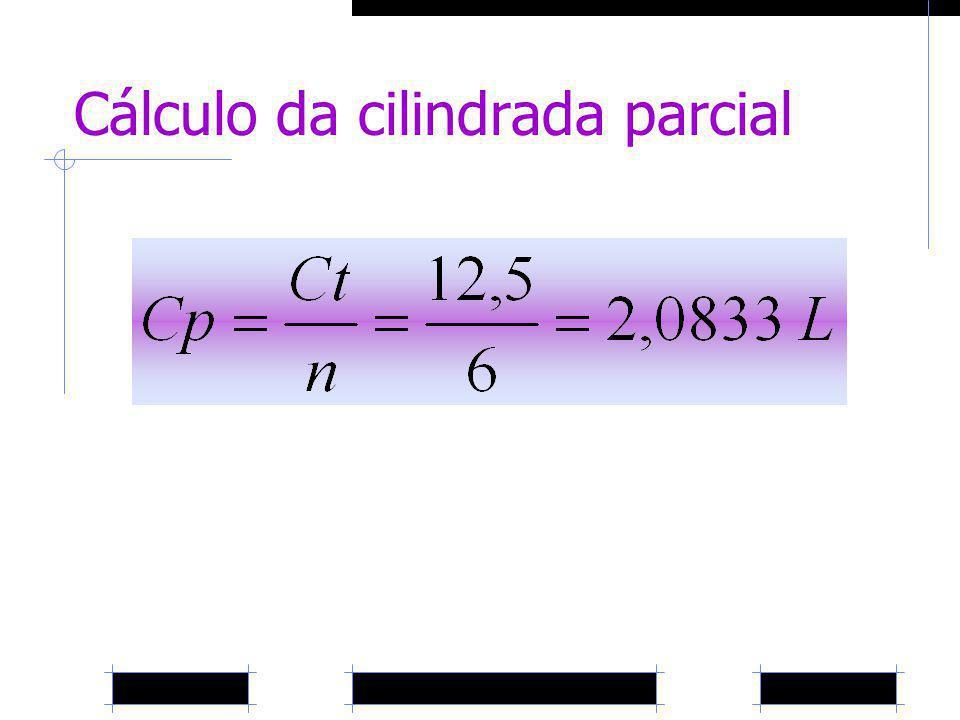 Cálculo da cilindrada parcial