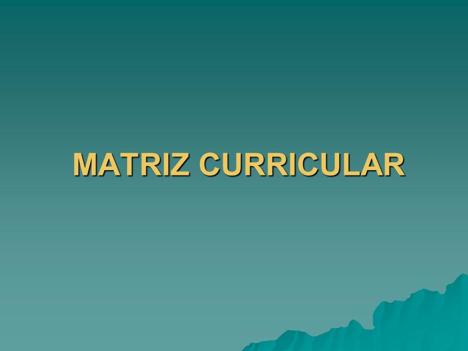 MATRIZ CURRICULAR MATRIZ CURRICULAR