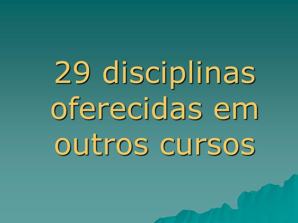 29 disciplinas oferecidas em outros cursos