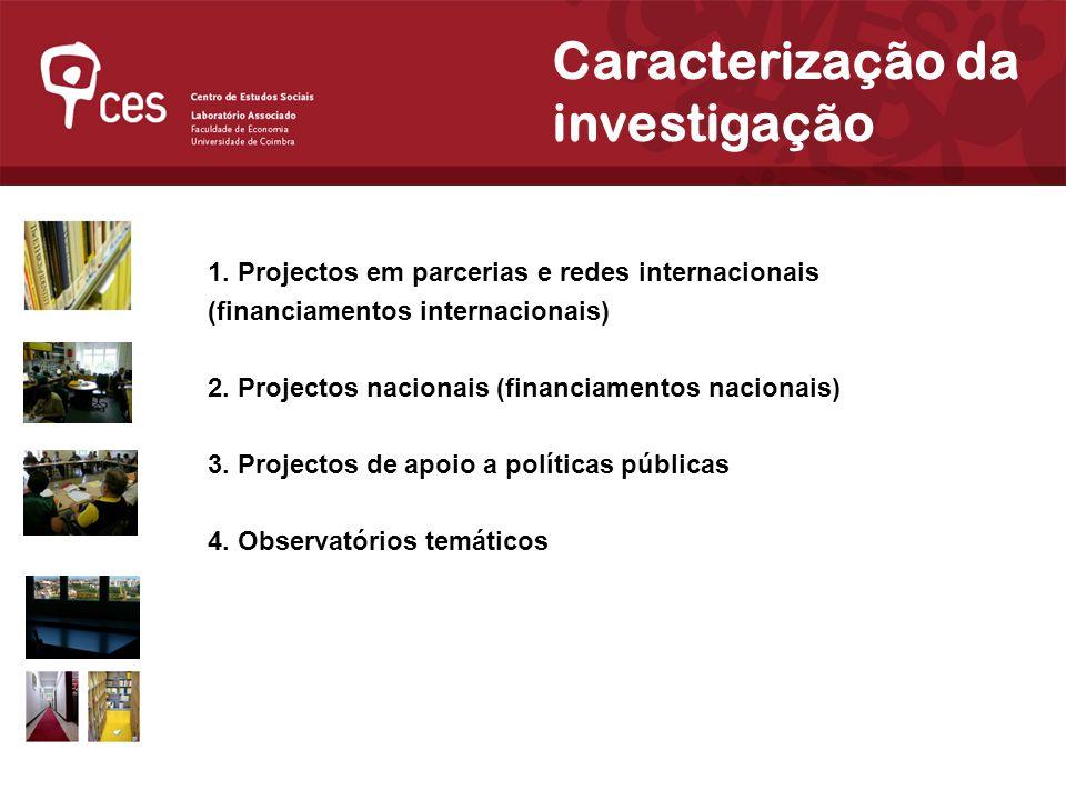 Julho 2007 Caracterização da investigação 1.