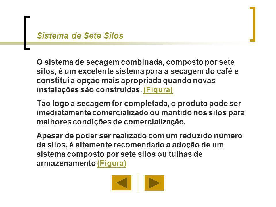 Sistema de Sete Silos O sistema de secagem combinada, composto por sete silos, é um excelente sistema para a secagem do café e constitui a opção mais