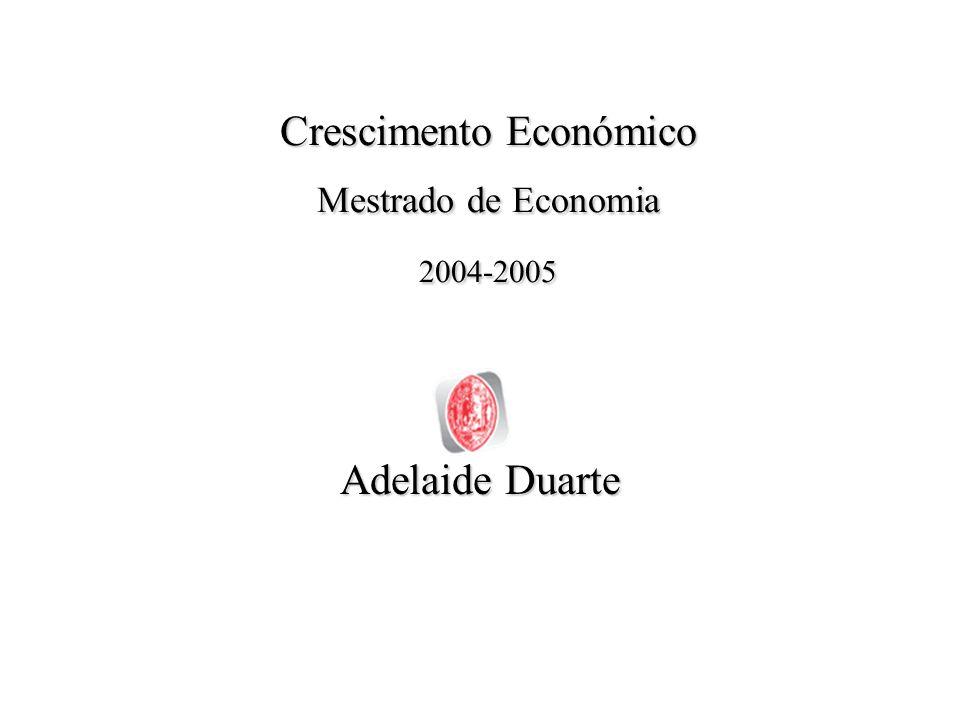 Crescimento Económico2 Sumário Objecto e Método do Crescimento Económico: algumas considerações –Importância do Crescimento Económico –Factores do Crescimento Económico –Objecto de Crescimento Económico –Factos Estilizados do Crescimento –Factos Estilizados de N.