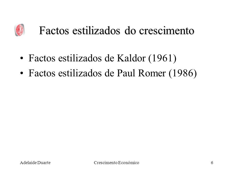Adelaide DuarteCrescimento Económico7 Factos Estilizados de N.