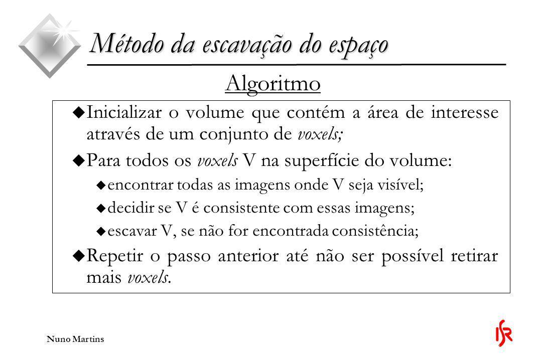 Nuno Martins Diferenças entre os métodos u A não utilização do conhecimento sobre a luz.