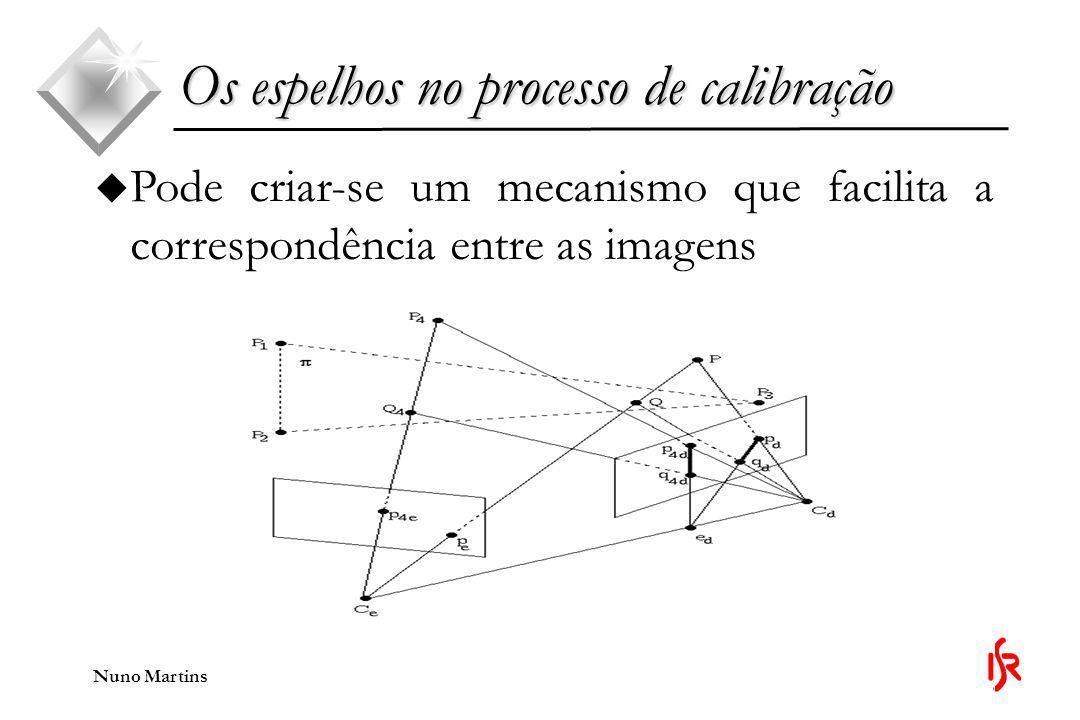 Nuno Martins u Pode criar-se um mecanismo que facilita a correspondência entre as imagens Os espelhos no processo de calibração