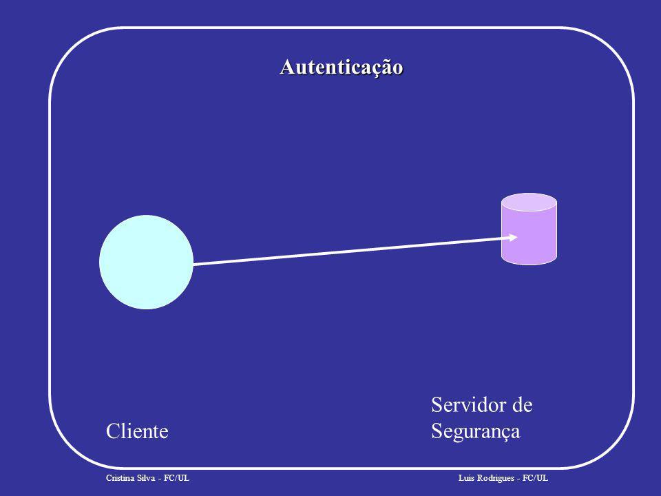 Autenticação Cristina Silva - FC/UL Cliente Servidor de Segurança Luis Rodrigues - FC/UL