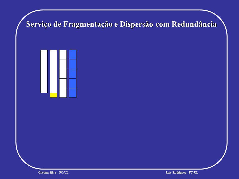 Problema da Distribuição Cristina Silva - FC/ULLuis Rodrigues - FC/UL Distribuição Estática –a dispersão dos fragmentos é efectuada com base num conjunto pré-definido e estático de armazéns.