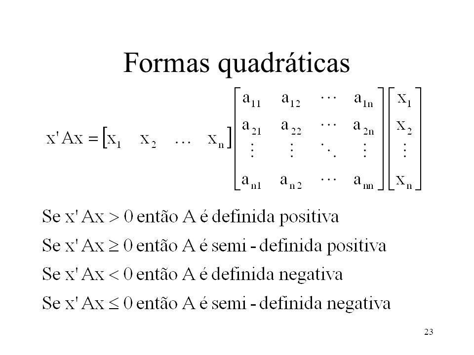 23 Formas quadráticas