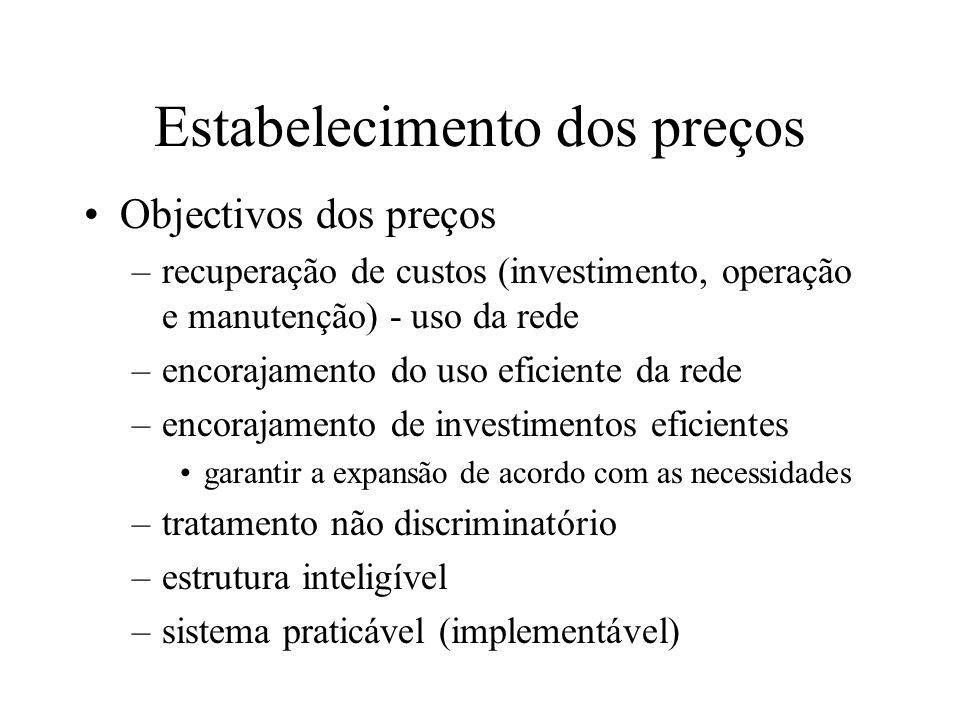 Planeamento observação do mercado => identificação dos principais focos de congestionamento expansão de acordo com a evolução do funcionamento tarifas com sinais económicos adequados ao investimento em infraestruturas