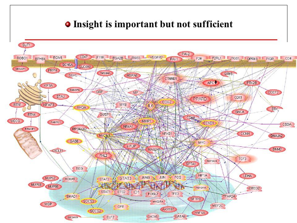 Insight is important but not sufficient Taxa de proliferação Dependente do meio (VEGF, Ang-2).