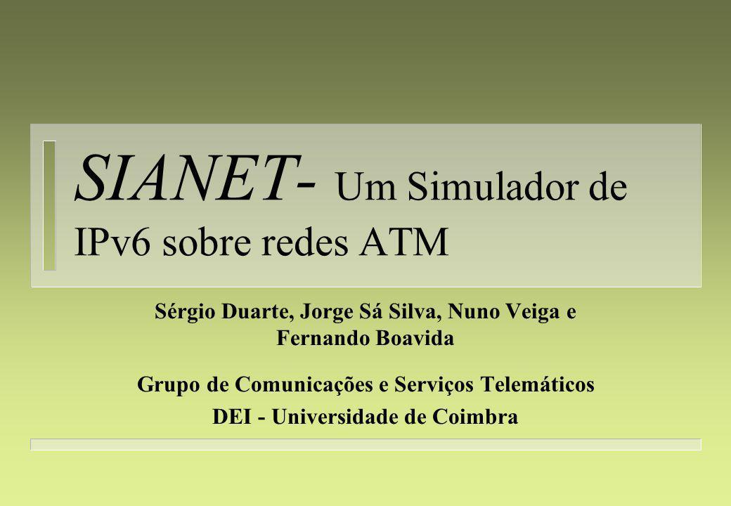 SIANET - Índice 4 Introdução 4 Pilha protocolar 4 Estrutura do simulador 4 Controlador de eventos 4 Componentes do simulador 4 Avaliação 4 Trabalho futuro