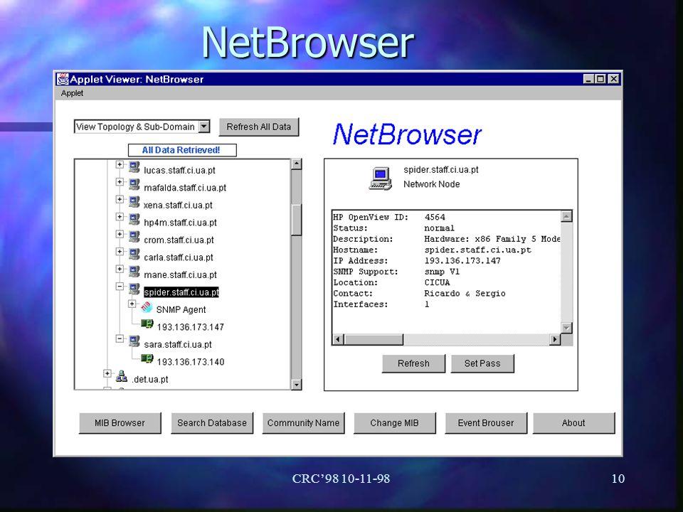CRC98 10-11-9810 NetBrowser