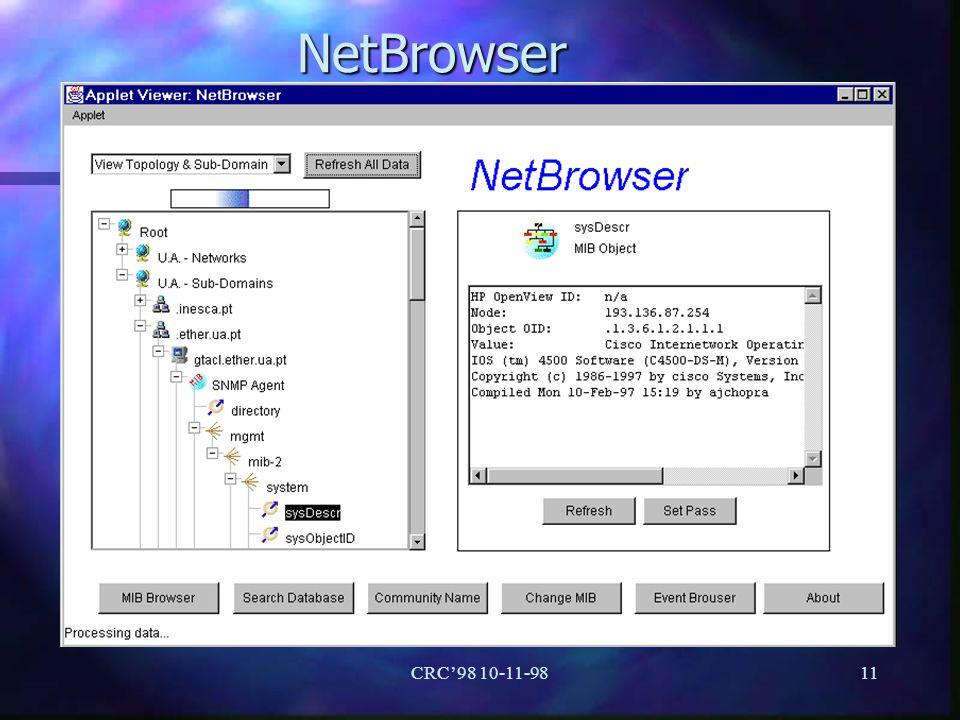 CRC98 10-11-9811 NetBrowser