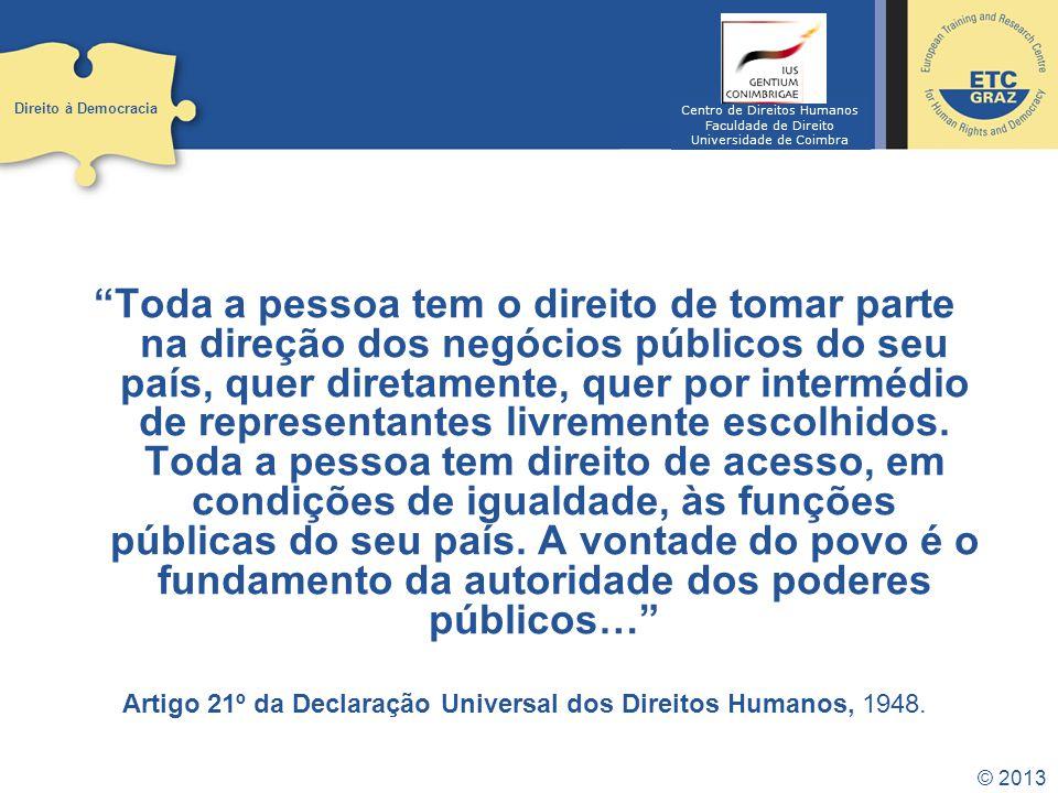 © 2013 História Democracia demos – Palavra grega para Povo.