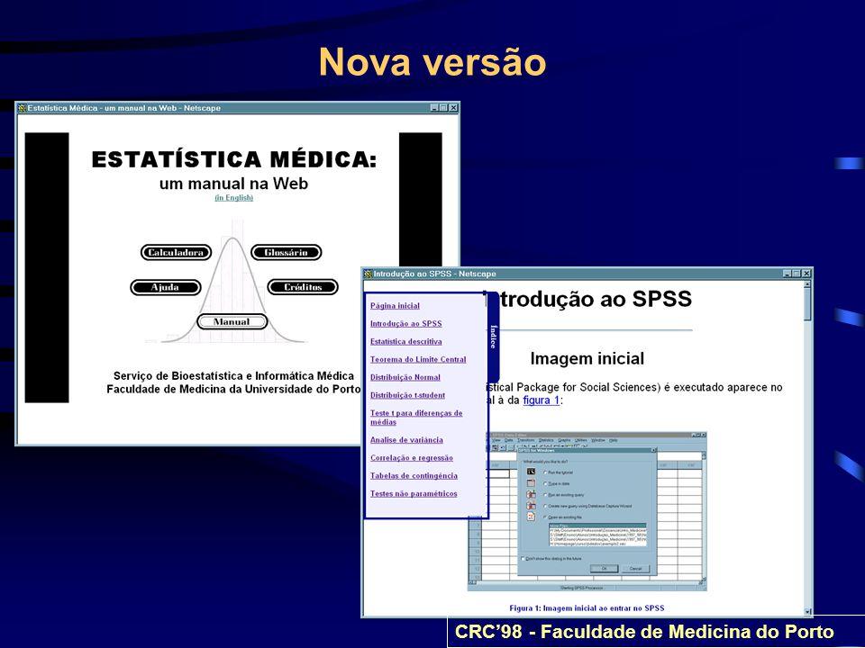 Nova versão CRC98 - Faculdade de Medicina do Porto