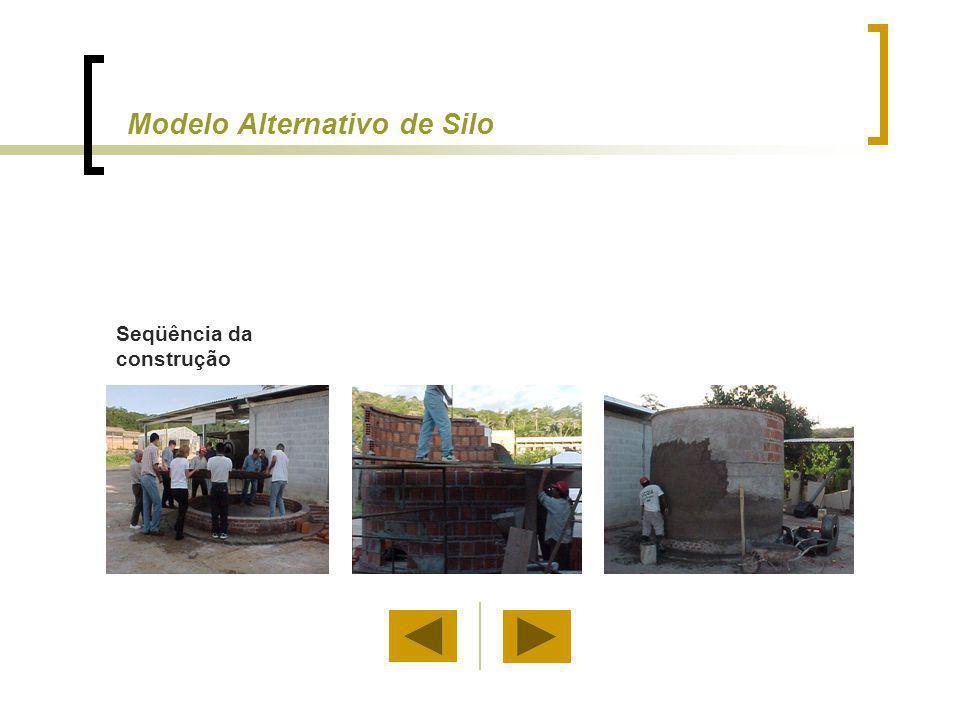 Seqüência da construção Modelo Alternativo de Silo