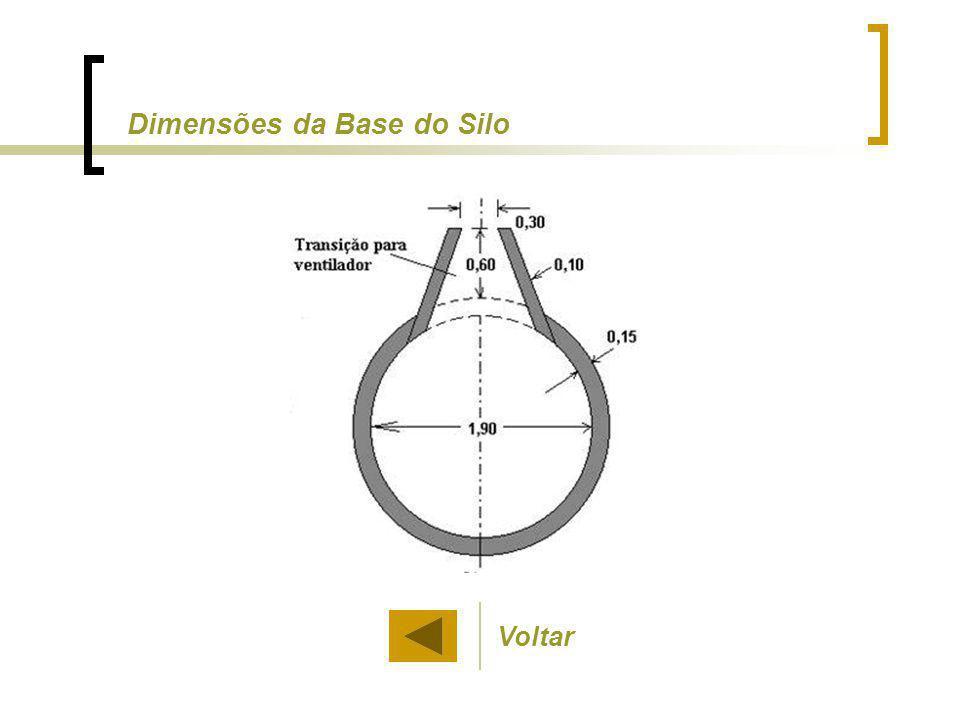 Dimensões da Base do Silo Voltar