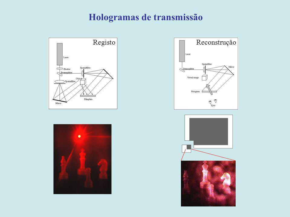 Hologramas de transmissão RegistoReconstrução