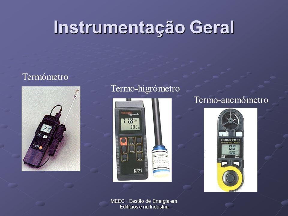 MEEC - Gestão de Energia em Edifícios e na Indústria Instrumentação Geral Termómetro Termo-higrómetro Termo-anemómetro