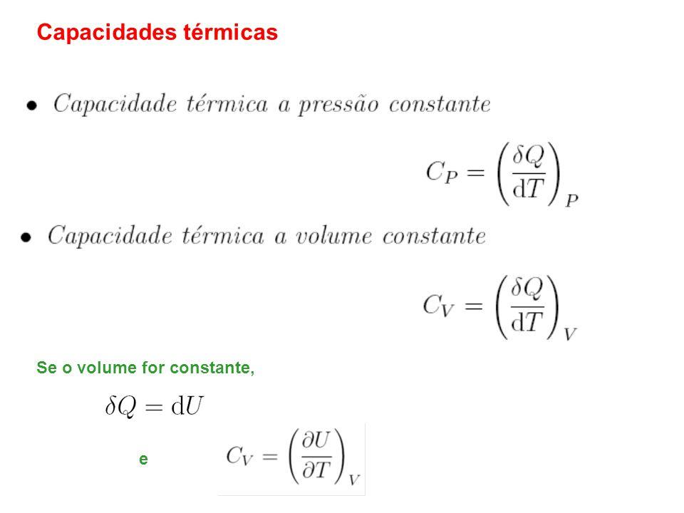 Capacidades térmicas de gases