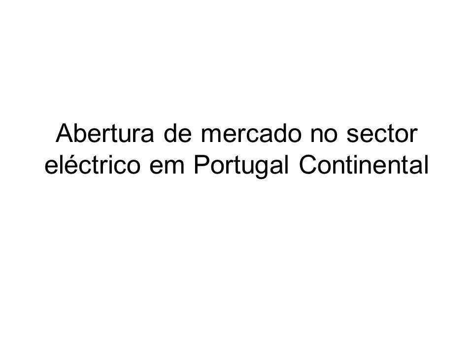 Abertura de mercado no sector eléctrico em Portugal Continental