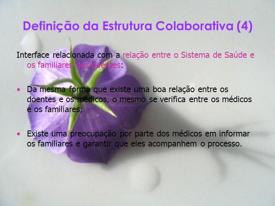 Interface relacionada com a relação entre o Sistema de Saúde e os familiares dos doentes: Da mesma forma que existe uma boa relação entre os doentes e