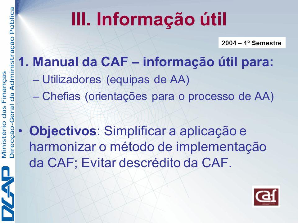 III.Informação útil 1.