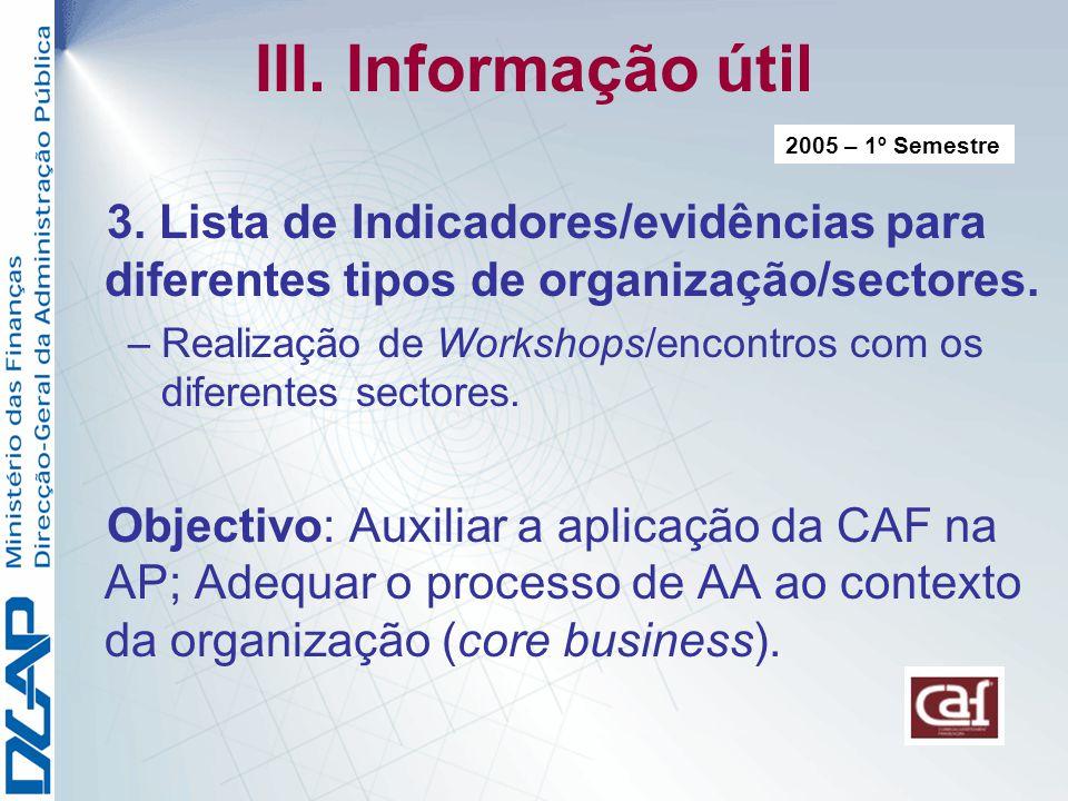 III.Informação útil 3.