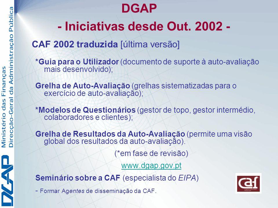 DGAP - Iniciativas desde Out.