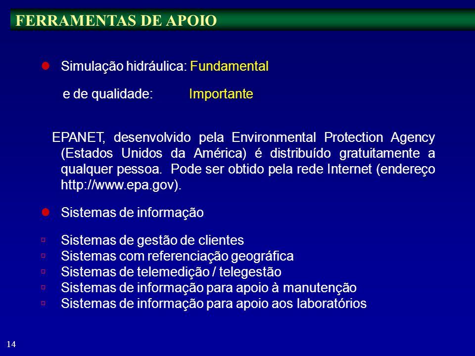 13 É MAIS FÁCIL PREVENIR DO QUE REMEDIAR Deve ser feita de forma sistemática a manutenção de: instalações elevatórias; equipamentos de medição e outra