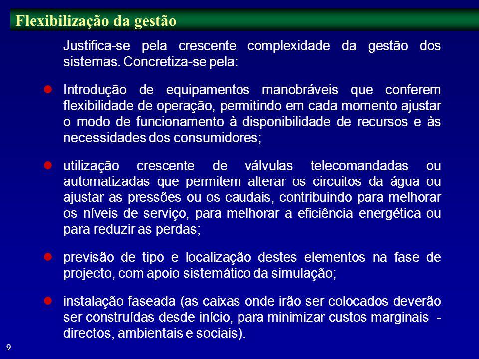 8 Necessidade de ter em conta, para além dos aspectos hidráulicos e de custos, outros factores por vezes contraditórios: aspectos ambientais e sociais