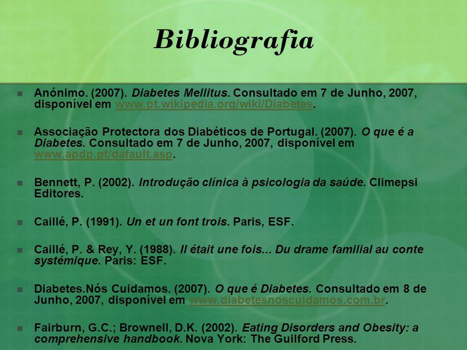 Bibliografia Anónimo.(2007). Diabetes Mellitus.