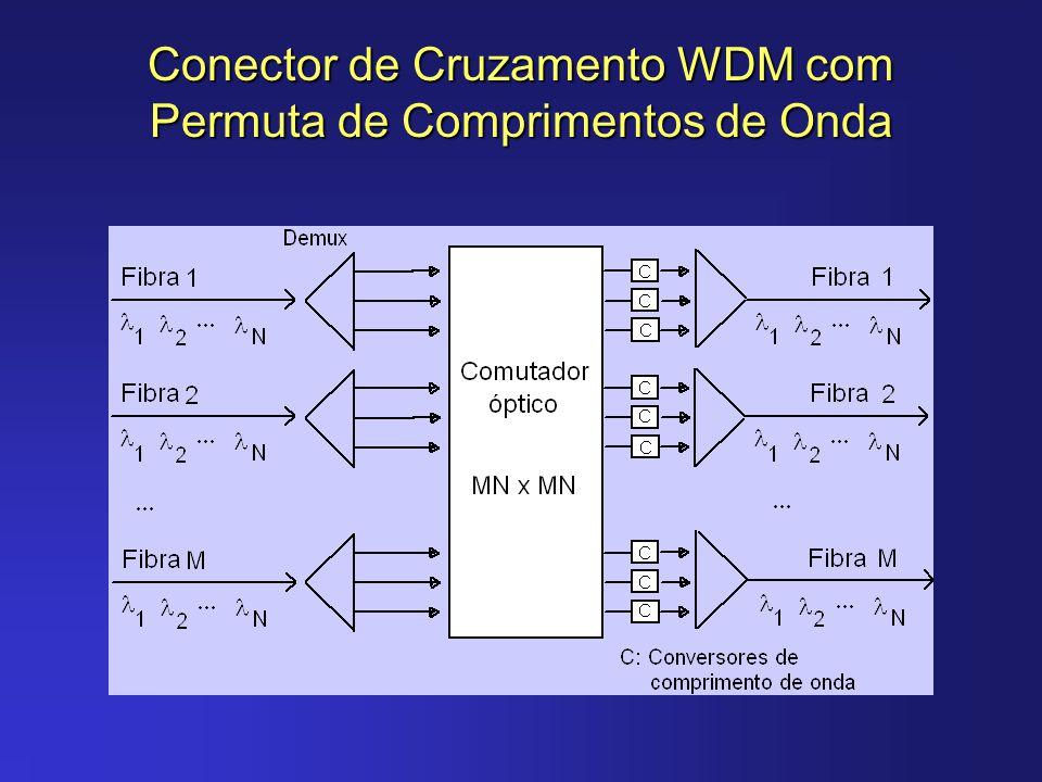 Tecnologias para a Realização de Caminhos Ópticos Caminhos Ópticos ATM - Caminhos ópticos para transporte de sinais eléctricos que utilizam o formato célula/pacote.