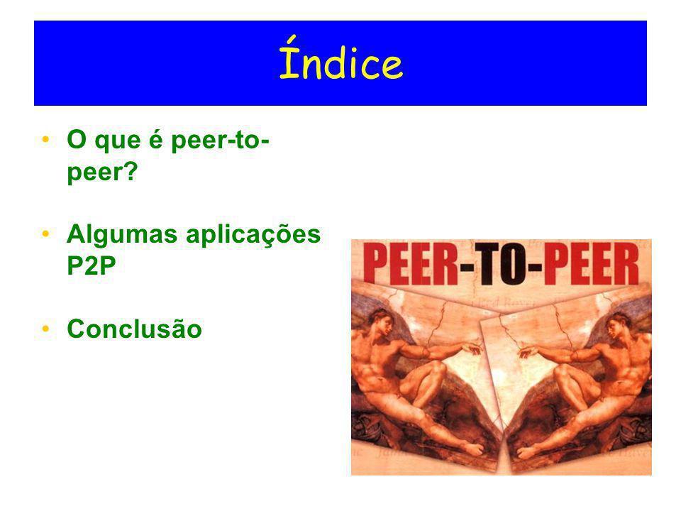 O que é peer-to-peer.