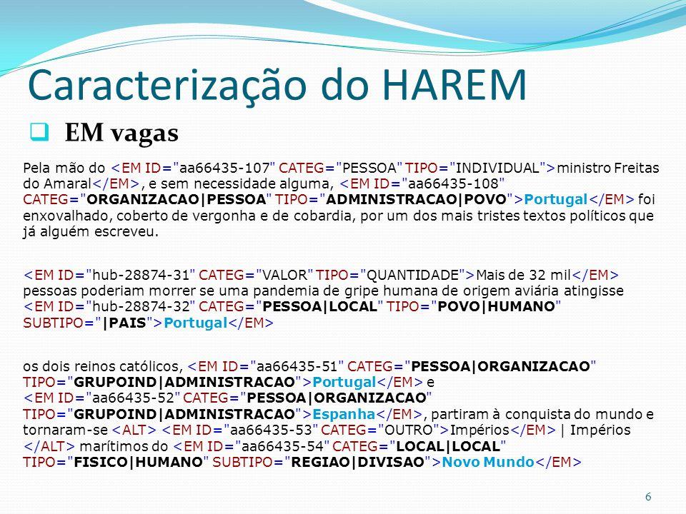 Caracterização do HAREM EM vagas 6 Pela mão do ministro Freitas do Amaral, e sem necessidade alguma, Portugal foi enxovalhado, coberto de vergonha e de cobardia, por um dos mais tristes textos políticos que já alguém escreveu.